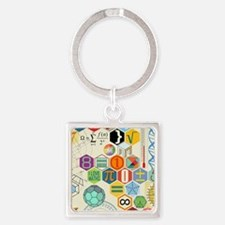 Cute Geek Square Keychain