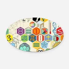 Cute Baby math Oval Car Magnet