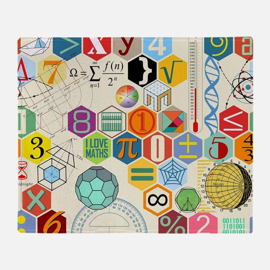Funny Math Throw Blanket