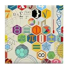 Cute Maths Tile Coaster