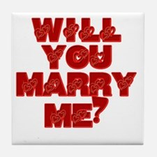 Marry me Tile Coaster