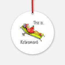 Retirment Ornament (Round)
