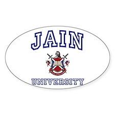 JAIN University Oval Decal
