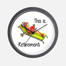 Retirment Wall Clock