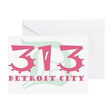 313 Detroit City Greeting Card