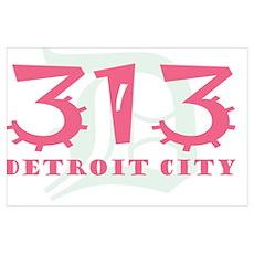 313 Detroit City Poster