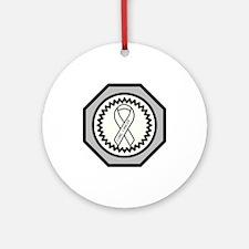 Lung Cancer Awareness Ribbon Design Ornament (Roun