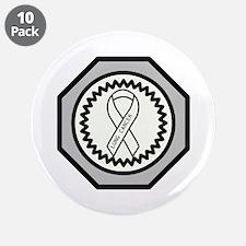 "Lung Cancer Awareness Ribbon Design 3.5"" Button (1"