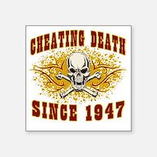 """cheating death 1947 Square Sticker 3"""" x 3"""""""
