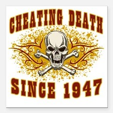 """cheating death 1947 Square Car Magnet 3"""" x 3"""""""