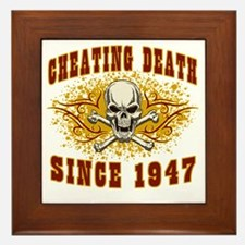 cheating death 1947 Framed Tile