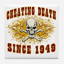 cheating death 1949 Tile Coaster