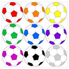 Rainbow Soccer Poster