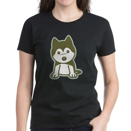 Husky Puppy Women's Dark T-Shirt