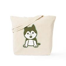 Husky Puppy Tote Bag