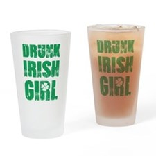 Drunk Irish Girl Drinking Glass