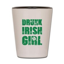 Drunk Irish Girl Shot Glass