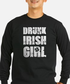 Drunk Irish Girl Long Sleeve T-Shirt