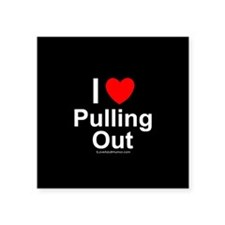 """Pulling Out Square Sticker 3"""" x 3"""""""