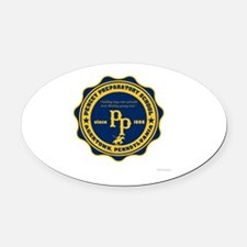 Pencey Prep Oval Car Magnet