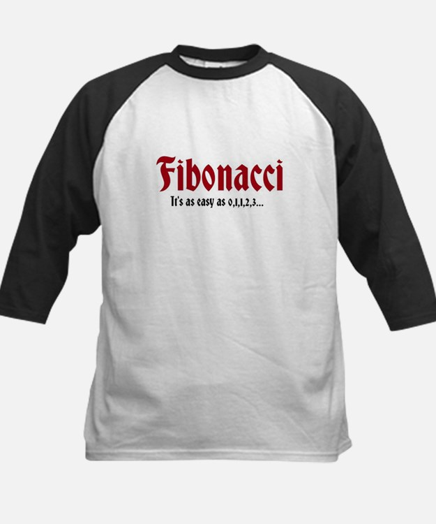 Fibonacci Easy As Kids Baseball Jersey
