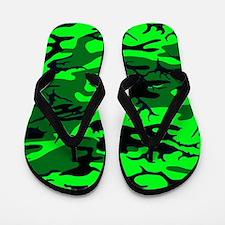 Alien Green Camo Flip Flops