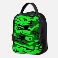 Alien Green Camo Neoprene Lunch Bag
