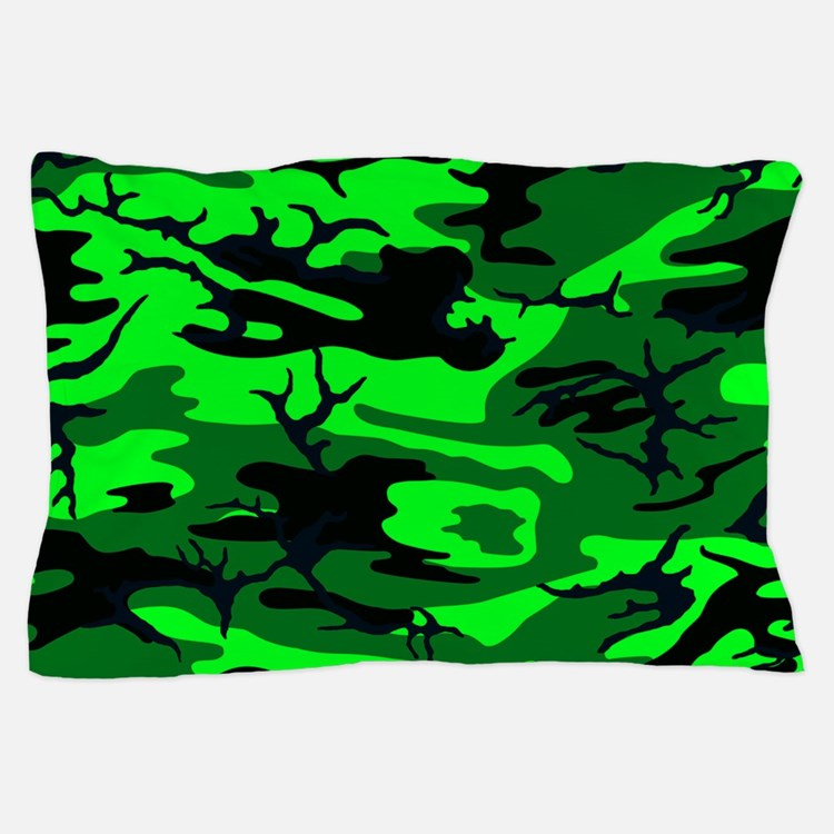 Alien Green Camo Pillow Case