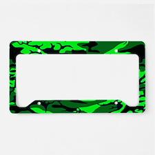 Alien Green Camo License Plate Holder