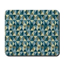 Turquoise Twinkle Geometric Triangle Pat Mousepad