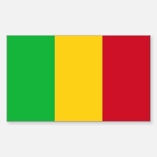 Mali Flag Sticker (Rectangle)