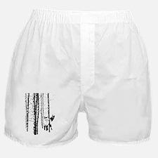 Fox in Birch Forest Modern Art Boxer Shorts
