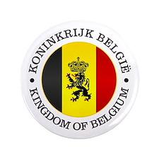 """Belgium (rd) 3.5"""" Button"""