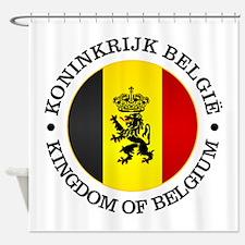 Belgium (rd) Shower Curtain