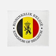 Belgium (rd) Throw Blanket