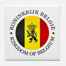 Belgium (rd) Tile Coaster