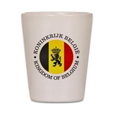 Belgium (rd) Shot Glass
