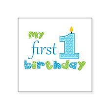 My First Birthday Sticker