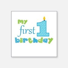 My First Birthday Sticker