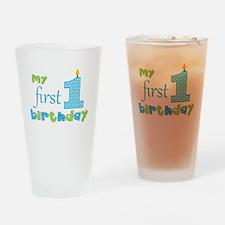 My First Birthday Drinking Glass