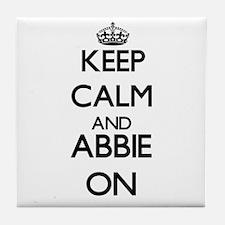 Keep Calm and Abbie ON Tile Coaster