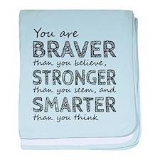 Braver Stronger Smarter baby blanket