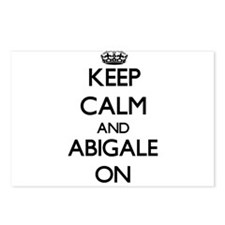 Keep Calm and Abigale ON Postcards (Package of 8)