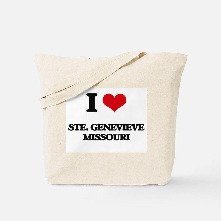 I love Ste. Genevieve Missouri Tote Bag