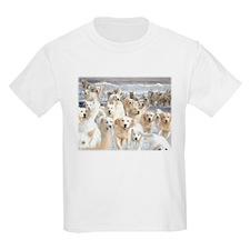 Golden Retreiver in the Sea Kids T-Shirt