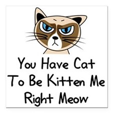 """You Have Cat To Be Kitte Square Car Magnet 3"""" x 3"""""""
