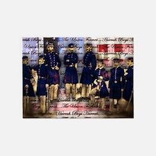 Vintage Civil War Ubion Soldiers 5'x7'Area Rug