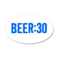 Beer:30 20x12 Oval Wall Decal