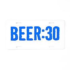 Beer:30 Aluminum License Plate