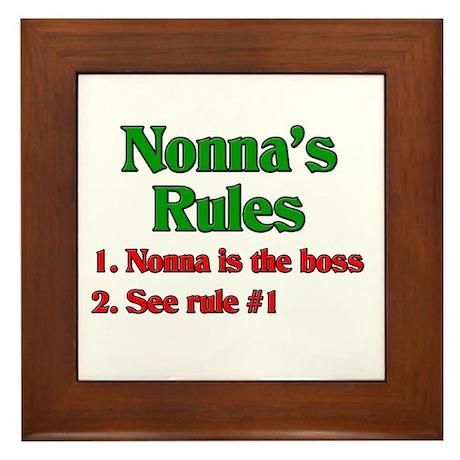 Nonna's Rules Framed Tile